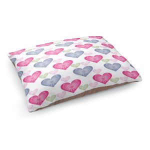 Decorative Dog Pet Beds | Pam Amos - Hearts in a Row | love pattern