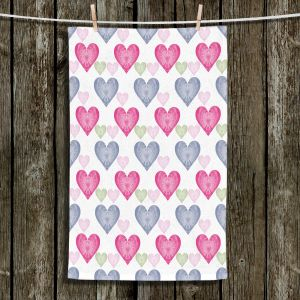 Unique Hanging Tea Towels | Pam Amos - Hearts in a Row | love pattern