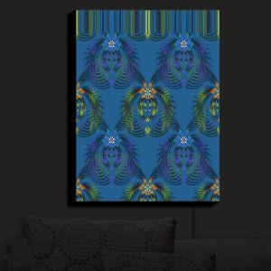 Nightlight Sconce Canvas Light | Pam Amos - Hibiscus Fern Blue