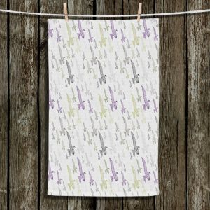 Unique Bathroom Towels | Pam Amos - In Flight | Sea Bird Pattern