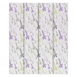 Decorative Wood Plank Wall Art | Pam Amos - In Flight | Sea Bird Pattern