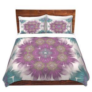Artistic Duvet Covers and Shams Bedding   Pam Amos - Kaleidoscope Flowers   Mandala shapes geometric