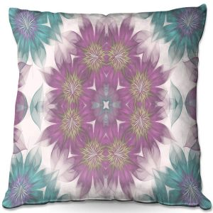Throw Pillows Decorative Artistic | Pam Amos - Kaleidoscope Flowers | Mandala shapes geometric