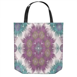 Unique Shoulder Bag Tote Bags | Pam Amos - Kaleidoscope Flowers | Mandala shapes geometric