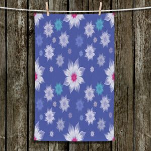 Unique Bathroom Towels | Pam Amos - Lace Flowers in a Row | pattern flower nature