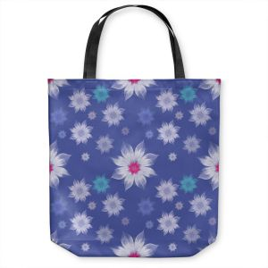 Unique Shoulder Bag Tote Bags | Pam Amos - Lace Flowers in a Row | pattern flower nature