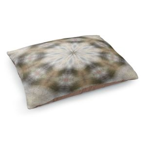 Decorative Dog Pet Beds | Pam Amos - Lace Kaleidoscope | Pattern circular geometry