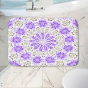 Decorative Bathroom Mats | Pam Amos - Lace Mandala | Pattern mandala circular geometry