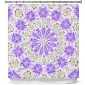 Premium Shower Curtains | Pam Amos - Lace Mandala | Pattern mandala circular geometry