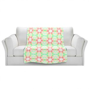 Artistic Sherpa Pile Blankets | Pam Amos - Lace Ripples 2 | Geometric pattern