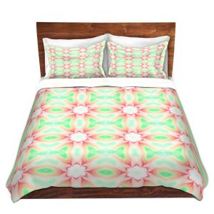 Artistic Duvet Covers and Shams Bedding | Pam Amos - Lace Ripples 2 | Geometric pattern