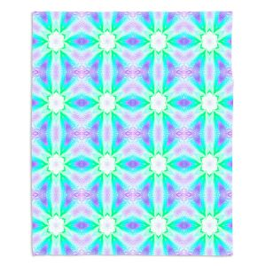 Decorative Fleece Throw Blankets | Pam Amos - Lace Ripples 3 | Geometric pattern