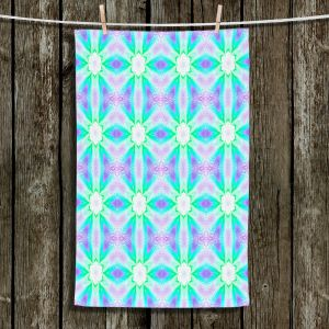 Unique Hanging Tea Towels | Pam Amos - Lace Ripples 3 | Geometric pattern