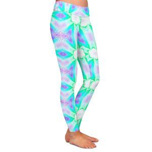 Casual Comfortable Leggings   Pam Amos - Lace Ripples 3   Geometric pattern