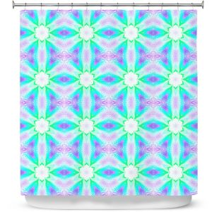 Premium Shower Curtains | Pam Amos - Lace Ripples 3 | Geometric pattern