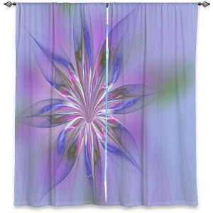 Decorative Window Treatments | Pam Amos - Lacey Flower Pink Blues | digital flower abstract