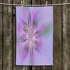 Unique Bathroom Towels   Pam Amos - Lacey Flower Purple Pinks   digital flower abstract