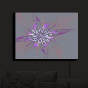 Nightlight Sconce Canvas Light | Pam Amos - Lacey Flower 3 | digital flower abstract