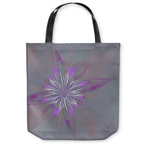Unique Shoulder Bag Tote Bags | Pam Amos - Lacey Flower 3 | digital flower abstract