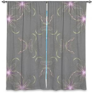 Decorative Window Treatments | Pam Amos - Lacey Pink Flowers | Pattern floral repetition