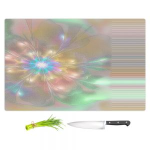 Artistic Kitchen Bar Cutting Boards | Pam Amos - Lusciously Soft | Floral flower abstract pattern
