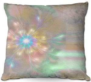 Throw Pillows Decorative Artistic | Pam Amos - Lusciously Soft | Floral flower abstract pattern