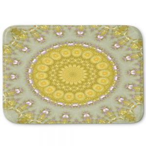 Decorative Bathroom Mats | Pam Amos - Opal | Pattern mandala circular geometry