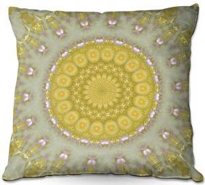 Throw Pillows Decorative Artistic | Pam Amos - Opal | Pattern mandala circular geometry