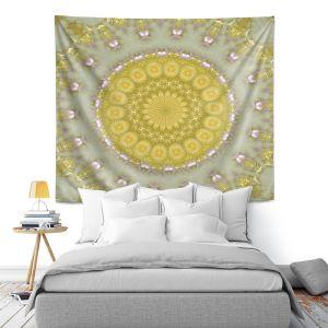 Artistic Wall Tapestry   Pam Amos - Opal   Pattern mandala circular geometry