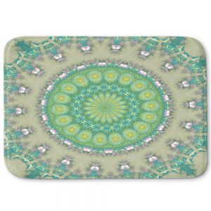 Decorative Bathroom Mats | Pam Amos - Opal Slice | Pattern mandala circular geometry