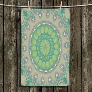 Unique Bathroom Towels | Pam Amos - Opal Slice | Pattern mandala circular geometry