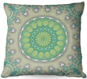 Throw Pillows Decorative Artistic | Pam Amos - Opal Slice | Pattern mandala circular geometry