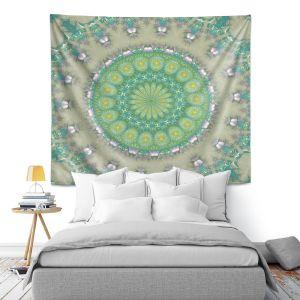 Artistic Wall Tapestry | Pam Amos - Opal Slice | Pattern mandala circular geometry