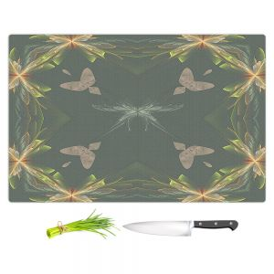 Artistic Kitchen Bar Cutting Boards | Pam Amos - Orchid Green | Floral flower abstract pattern