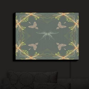 Nightlight Sconce Canvas Light | Pam Amos - Orchid Green