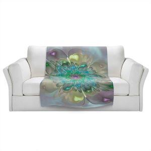 Artistic Sherpa Pile Blankets | Pam Amos - Pastel Bliss 11 | geometric flower
