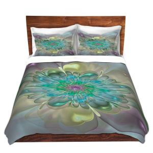 Artistic Duvet Covers and Shams Bedding | Pam Amos - Pastel Bliss 11 | geometric flower