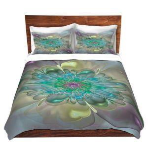 Artistic Duvet Covers and Shams Bedding | Pam Amos - Pastel Bliss 11 | geometric flower