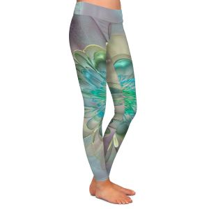 Casual Comfortable Leggings | Pam Amos - Pastel Bliss 11 | geometric flower