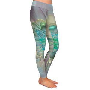 Casual Comfortable Leggings | Pam Amos - Pastel Bliss 11 | geometric flower