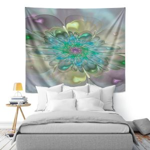 Artistic Wall Tapestry | Pam Amos - Pastel Bliss 11 | geometric flower