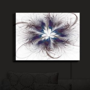 Nightlight Sconce Canvas Light | Pam Amos - Peacock Feather Flower 3