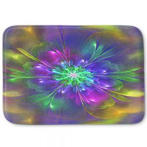Decorative Bathroom Mats | Pam Amos - Purple Hues | Abstract pattern