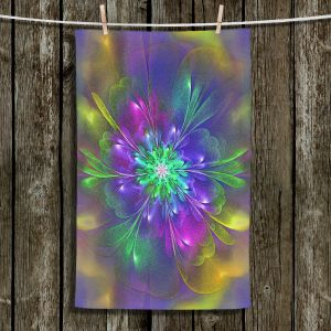 Unique Hanging Tea Towels   Pam Amos - Purple Hues   Abstract pattern