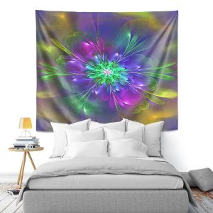Artistic Wall Tapestry | Pam Amos - Purple Hues | Abstract pattern