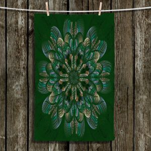 Unique Hanging Tea Towels | Pam Amos - Quilted Flower Mint Jelly | mandala circle pattern