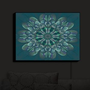 Nightlight Sconce Canvas Light | Pam Amos - Quilted Flower Pine