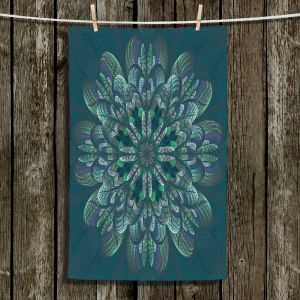 Unique Hanging Tea Towels | Pam Amos - Quilted Flower Pine | mandala circle pattern