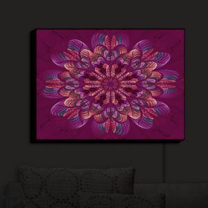 Nightlight Sconce Canvas Light | Pam Amos - Quilted Flower Royal
