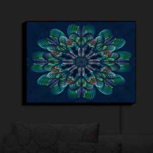 Nightlight Sconce Canvas Light | Pam Amos - Quilted Flower Ocean Blue